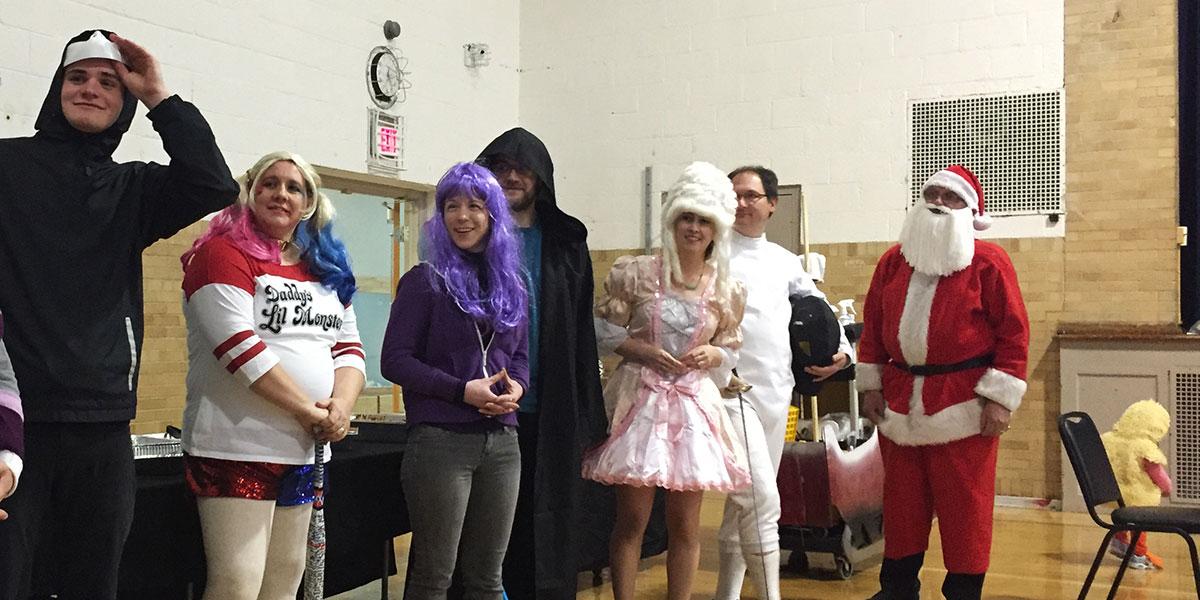 Halloween costume contest contenders